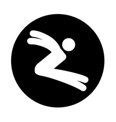 silhouette of athlete practicing long jump vector image vector image