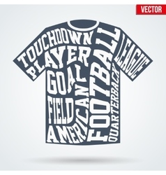 Sports symbol shirt of american football with vector