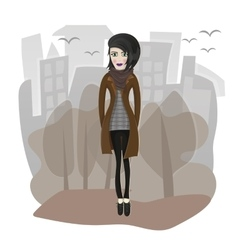stylish girl vector image