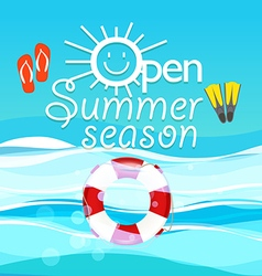 Summer season vacation Open summer season concept vector image