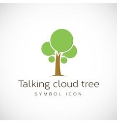 Talking Cloud Tree Concept Symbol Icon vector image vector image