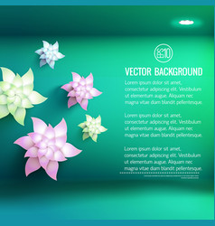 white flowers 3d background vector image