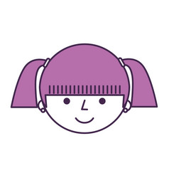 Young girl avatar character vector