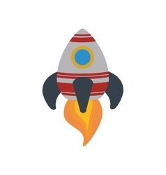 Rocket spaceship science aircraft icon vector