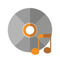 Isolated music note and cd design vector
