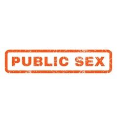 Public sex rubber stamp vector