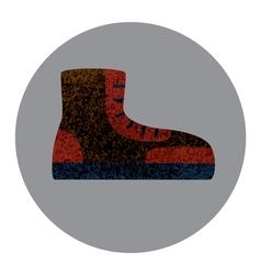 Boot fat icon with textured elements vector