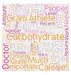 Carbohydrates the essential energy source text vector