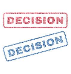 Decision textile stamps vector