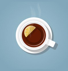 a cup of tea vector image