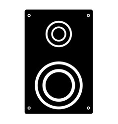Loud speaker the black color icon vector