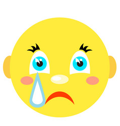 smiley cries icons on a white background vector image
