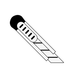 Blade cutter stationery supply icon image vector
