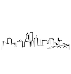 Portlandskyline vector