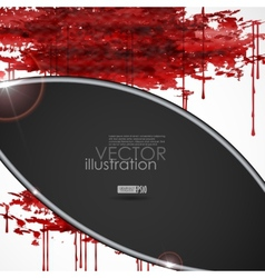 Bloody watercolor spots vector