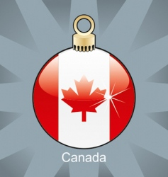 Canada flag in bulb vector image
