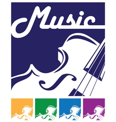 Violin icon vector