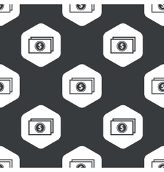 Black hexagon dollar banknote pattern vector