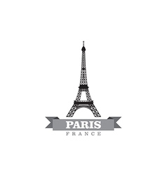 Paris france city symbol vector