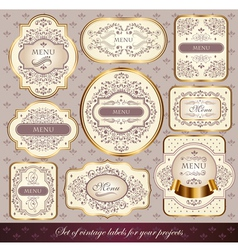 Set of elegance labels vector