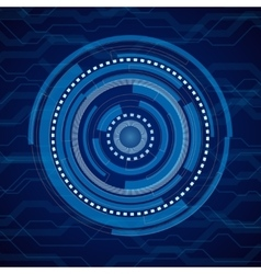 Abstract internet technology blue vector