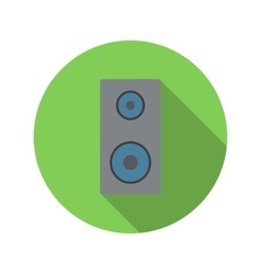 Music speaker flat icon vector