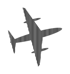 Airplane sign on white vector