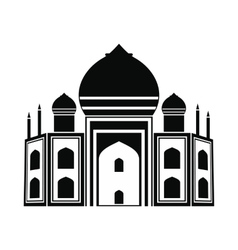Taj mahal india icon simple style vector