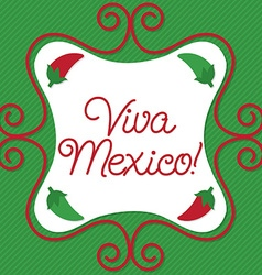 Curly sign mexican card in format vector