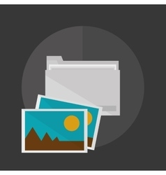 Office design corporate icon isolated vector