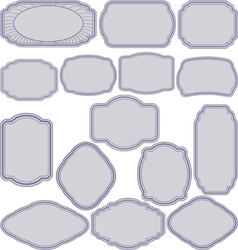 simple frames vector image