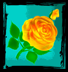 Abstract yellow rose vector
