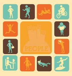 Activities of people vector