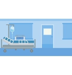 Background of hospital ward vector
