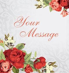 Beautiful greeting card vector