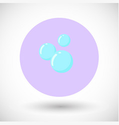 bubble flat icon vector image vector image