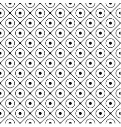 Circles and rhombuses pattern for design vector