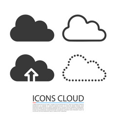cloud icons set template design vector image vector image