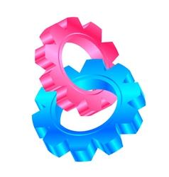 cog wheels vector image