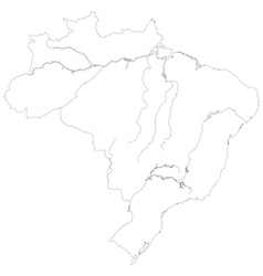 Contour map of brazil vector