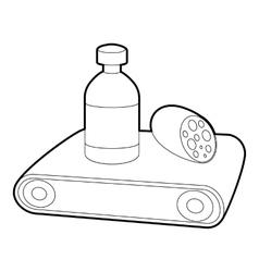 Conveyor belt icon outline style vector