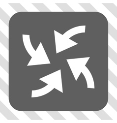 Cyclone arrows rounded square button vector
