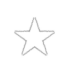 dotted star shape vector image vector image