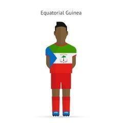 Equatorial guinea football player soccer uniform vector