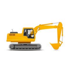 excavator realistic vector image vector image