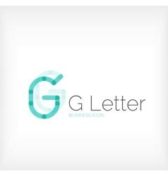 G letter logo minimal line design vector