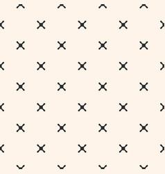 geometric seamless pattern cross x texture vector image vector image