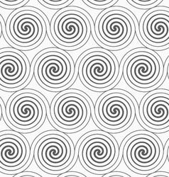 Gray merging archimedean spirals vector