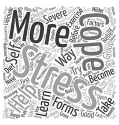 How to cope with stress text background wordcloud vector