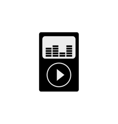 Music player mp4 vector